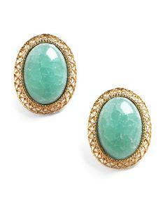 jade stone earrings