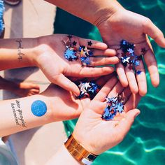 14864f4b8 INKED by Dani | Star Spangled Hammered #TemporaryTattoos #WristTattoos  #QuoteTattoos Wrist Tattoos,