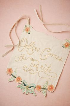 Here Comes the Bride/Just Married Banner from BHLDN