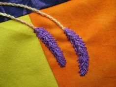Feather stitch lavender tutorial