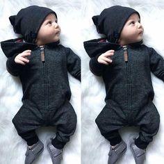 US Infant Newborn Baby Boy Girl Cotton Bodysuit Romper Jumpsuit Clothes Outfits | eBay #babyboyoutfits
