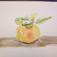 Persimmon #watercolor #artstudent #art