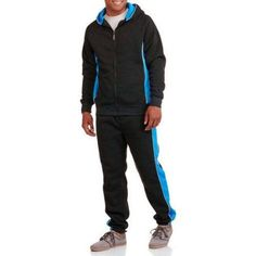 Men's Heavy Weight 2 Piece Fleece Set, Size: XL, Blue