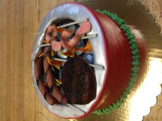 BBQ cake for Father's Day. La Patisserie Francaise Arvada CO