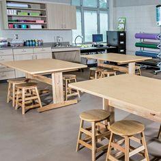 Classroom Stools, Classroom Design, Art Classroom, Classroom Ideas, Craft Tables With Storage, Design Theory, Fun Arts And Crafts, Plastic Art, School Furniture