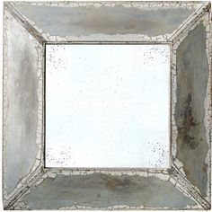 Square, Shabby Elegance, accent wall mirror.Features:Material: Glass and woodFinish: BrownShabby Elegance