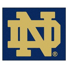 Notre Dame University 5 ft. x 6 ft. Tailgater Rug, Team Colors - Option A