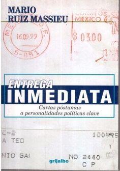 ENTREGA INMEDIATA MARIO RUIZ MASSIU CARTAS POSTUMAS SIGMARLIBROS