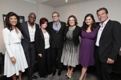 CBS Daytime TCA Event: Julie Chen (The Talk); Wayne Brady (Let's Make A Deal); Sharon Osbourne (The Talk); Drew Carey (The Price Is Right); Angelica McDaniel, Senior Vice President, Daytime, CBS Entertainment; Heather Tom (The Bold and the Beautiful); and Peter Bergman (The Young & The Restless) during TCA Daytime Studio Day, held at CBS Television City in Los Angeles, CA on July 31, 2012.