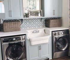 Not every person can make an ideal small laundry room design thoughts. That is on the grounds that they will in general believe that their laundry room space is very small. Laundry Room Bathroom, Laundry Room Remodel, Basement Laundry, Laundry Room Organization, Laundry Room Design, Bath Room, Laundry Decor, Bathroom Pink, Design Kitchen