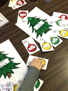 Real and nonsense word sort Christmas trees! Plus,enjoy a free writing resource too!