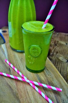 Green Mango and Spinach Smoothie Recipe: A lush healthy smoothie with the fruity flavour of mango. I remember the baobab tree from the book THE LITTLE PRINCE--it grows in Africa, and I'll pass on the latest superfood--sound yummy without it too!