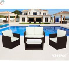 Shopping deals with up to off - Miami Rattan-Effect Lounge Set in Choice of Colour for With Free Delivery Off) Miami, Support Pillows, Outdoor Furniture Sets, Outdoor Decor, Framing Materials, Garden Projects, Free Delivery, Home And Garden, Lounge