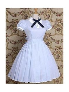 a275d5c78c75 Light Blue Short Sleeves Classic Lolita Dress Kawaii Mode, Lolitamode,  Vintageklänningar, Vackra Klänningar