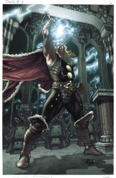 color version ( by Simone Peruzzi) of the last page in issue n 6 from Thor:for Asgard. Thor:for Asgard n 6 p 22 Poster Marvel, Poster Superman, Posters Batman, Wolverine Poster, Batman Vs, Comic Book Characters, Marvel Characters, Comic Books Art, Comic Art