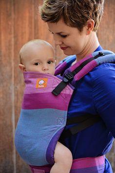 (Standard Size) Full Wrap Conversion Tula Baby Carrier - Girasol Mister X Purpura Weft