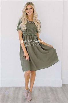 Olive Lace Insert Dress, Vintage Dress, Church Dresses, dresses for church, modest bridesmaids dresses, trendy modest, modest office clothing, affordable boutique dresses, cute modest dresses, mikarose, trendy boutique, pink dress