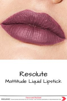"Are you in need of a long lasting matte lipstick that truly stays on for hours? Mattitude Liquid Lipstick is a long-wearing, soft matte liquid lipstick by Avon. Try it out in ""Resolute"". Get the deets in my full review! ~ EXCLUSIVE Avon coupon code when you visit the blog ~ Save money with my exclusive discount - only for new subscribers! ~ #boldlip #purplelips #avonmakeup Long Lasting Matte Lipstick, Purple Lips, Bold Lips, I Tried, Liquid Lipstick, Color Trends, Lip Colors, Color Inspiration, Avon"