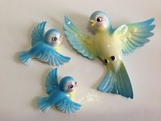 Vintage Lefton wall plaques, cute! Ebay