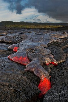 Viscous Mass of Red Hot Rock, Kilauea, Hawaii,