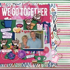 """Layout made using my """"We Go Together"""" kit. We Go Together, Better Together, Scrapbooking Layouts, Digital Scrapbooking, Confirmation Page, My Other Half, Paint Shop, Photoshop Elements"""