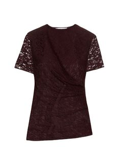 CARVEN Gathered-Front Lace Top. #carven #cloth #top