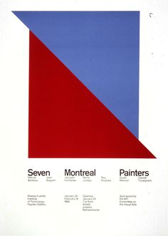 Jacqueline S. Casey, Seven Montreal painters Poster Design, Print Design, Type Posters, Poster Prints, Tool Design, Web Design, Information Design, Cover Pages, Book Covers