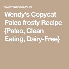 Wendy's Copycat Paleo frosty Recipe {Paleo, Clean Eating, Dairy-Free}