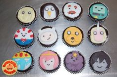 Adventure Time cupcakes available at Birdhouse Bakers! Looking for a quirky and unique gift idea? Why not order a batch of cupcakes with cute designs? Birdhouse Bakers offer excellent pastries that will definitely leave you wanting for more! Adventure Time Quotes, Adventure Time Characters, Cupcake Toppers, Cupcake Cakes, Cup Cakes, Adventure Time Cupcakes, Cute Desserts, Character Cakes, Cake Decorating