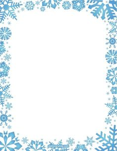 pin by muse printables on page borders and border clip art rh pinterest com Winter Border Art Snowflake Background Clip Art