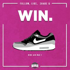 Yet again an other chance to win a pair of Air Max 1? Wanna win? Only things you have to do are listed down below:  1: Share this FB status (on Facebook) 2: Like our FB Page 3: Follow Sneakerbaas on Instagram: http://bit.ly/instafollow1  Enter with the link below: http://prmo.me/8kbOvL  Maybe you are rocking with some new kicks in 2015!  www.sneakerbaas.com