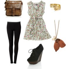 Like everything minus the shoes, I would rock comfy flats