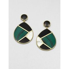 Ippolita Malachite, Black Onyx, Mother-Of-Pearl And 18k Yellow Gold... ($1,695) ❤ liked on Polyvore