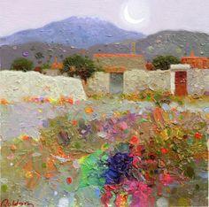 Pedro Roldan, artista Cordobes, nos hace vibrar con su obra, con una realidad magica, poetica, llena de luminosidad y color, y que mediante el color trata de emocionar a la gente, con sus paisajes …