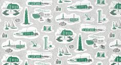 Design inspiration for The Versions of Us: the gorgeous Dungeness design by Mini Moderns Textile Patterns, Textiles, Beautiful Cover, Modern Design, Photo Wall, Design Inspiration, Quilts, Blanket, Wallpaper