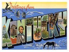 Kentucky, the bluegrass state.