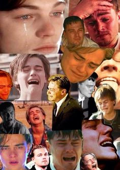 Wait... why am I obsessed with this Leonardo Dicaprio crying collage?