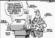 Bank Holiday Jokes and One-liners - Funny Jokes Political Comics, Funny Political Cartoons, Jokes Photos, Funny Photos, Jokes Images, Short Clean Jokes, Labor Day Pictures, American Hot Dogs, Obama Funny