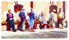 """It'll be here soon by Graham Berry Watercolor ~ 8"""" x 14"""""""