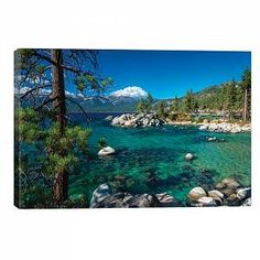 'Boulders and cove at Sand Harbor State Park, Lake Tahoe, Nevada, USA' Photographic Print on Wrapped Canvas Union Rustic Size: 66 cm H x cm W x Lake Tahoe Nevada, Sand Harbor Lake Tahoe, State Parks, Lake Tahoe Vacation, Nevada Usa, Seen, Canvas Artwork, Bouldering, Online Art Gallery