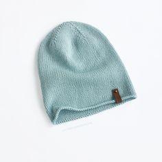 Шапка Бини небесно-голубая 50-52 см Из мериносовой шерсти и хлопка (идеально для весны и тёплой осени) Beanie, Knitting, Hats, Fashion, Moda, Tricot, Hat, Fashion Styles, Breien