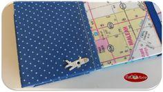Diário de Bordo Miami... tecido + papel personalizado.