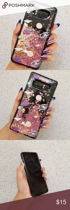 Samsung Planet Glitter Case Brand new liquid glitter waterfall case  Available for: Galaxy S8 Galaxy S8 Plus Galaxy Note 8 Accessories Phone Cases