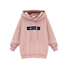 ELINKMALL Women Cotton Casual Letter Pink Harajuku Lightw...