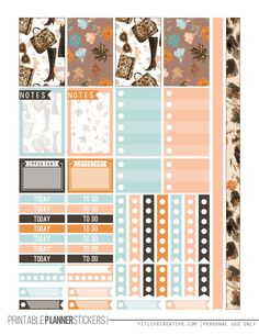 Glam your Happy Planner up this fall with these FREE Fall Glam printable planner stickers.
