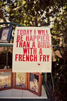 haha...I would be even happier WITH a french fry ;)