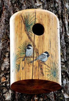 Image result for hollow log bird houses for sale