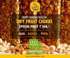 SweetsInBox brings to you the #ChikkiFest this #Navratri buy Tasty Crunchy Healthy Chikki & keep spreading sweetness.