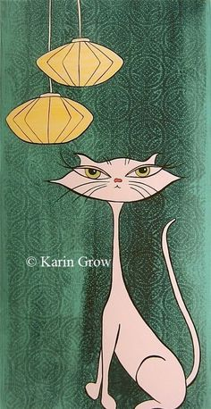 Retro and a cat, can't get any better.  Karingrow on etsy does amazing stuff.
