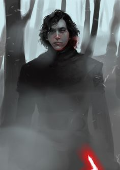 This is chronologically my first Kylo Ren portrait, done in early 2016 shortly after seeing The Force Awakens. Kylo Ren on Starkiller Star Wars Fan Art, Star Wars Saga, Star Wars Kylo Ren, Star Trek, Star Citizen, Kylo Ren Fan Art, Star Wars Zeichnungen, Star Wars Drawings, Kylo Ren And Rey